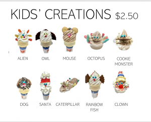 Kids Creation Menu